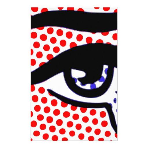Pop Art Eye Stationery Design