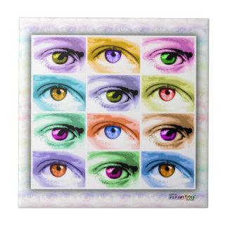 Pop Art Eyes Ceramic Tile