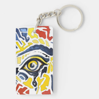 Pop Art Eyes Key Chain