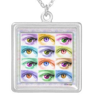 Pop Art Eyes Necklace