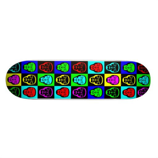 Pop Art Faces Skateboard