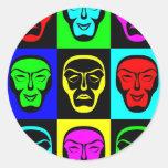 Pop Art Faces Sticker
