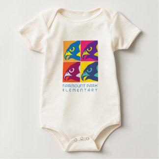 Pop Art Falcon Spirit Baby Bodysuit