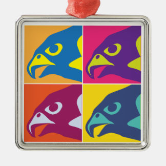 Pop Art Falcon Spirit Metal Ornament