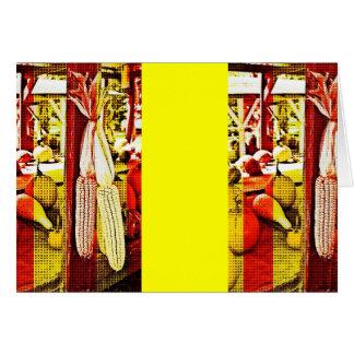 Pop Art Fall Corn Card