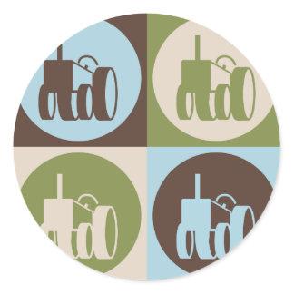 Pop Art Farming Classic Round Sticker