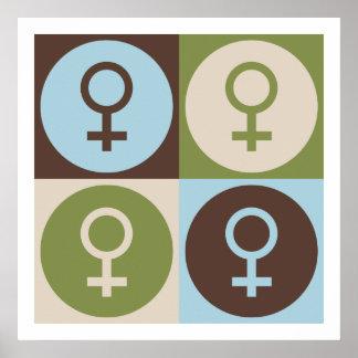 Pop Art Feminism Poster
