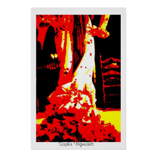 Pop art flamenco dancer Print