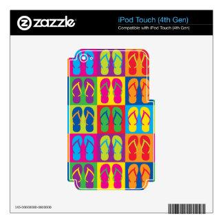 Pop Art Flip Flops Decals For iPod Touch 4G