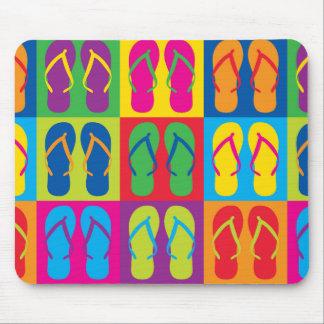 Pop Art Flip Flops Mouse Pad