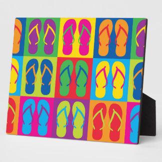 Pop Art Flip Flops Plaque