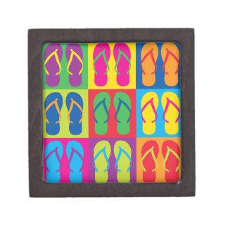 Pop Art Flip Flops Premium Keepsake Boxes
