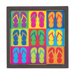 Pop Art Flip Flops Premium Gift Boxes