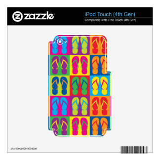 Pop Art Flip Flops Skin For iPod Touch 4G