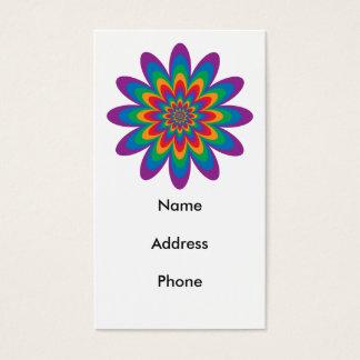 Pop Art Flower Business Card