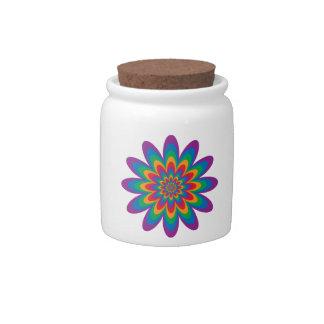 Pop Art Flower Candy Dishes