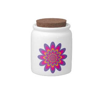 Pop Art Flower Candy Jars
