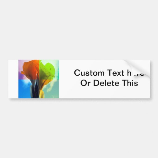 Pop art Flower in different color quads retro look Bumper Stickers