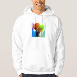 Pop art Flower in different color quads retro look Hoodie