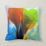 Pop art Flower in different color quads retro look Pillow
