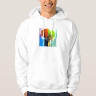 Pop art Flower in different color quads retro look Sweatshirt