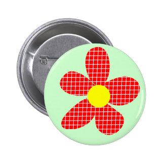 Pop Art Flower - Light Green Pinback Button