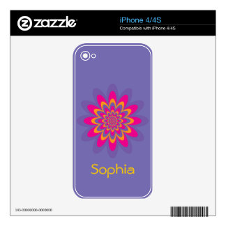 Pop Art Flower Skins For The iPhone 4