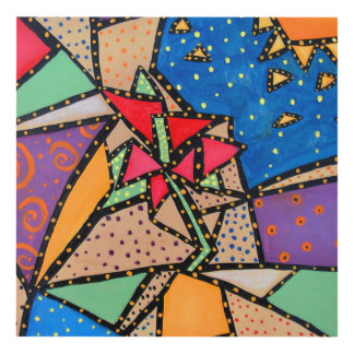 Whimsical Wall Art whimsical flower art & framed artwork | zazzle