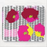 Pop art flowers digital art mousemat
