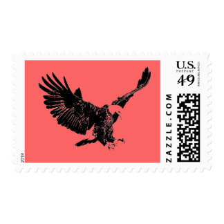 Pop Art Flying Eagle Silhouette Postage