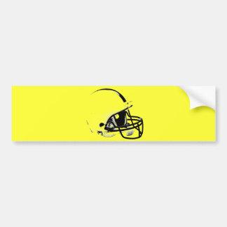Pop Art Football Helmet Bumper Sticker