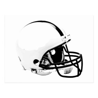 Pop Art Football Helmet Postcard