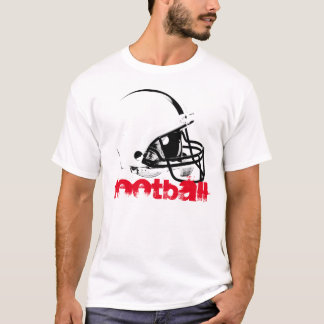 Pop Art Football Helmet Red Black White T-Shirt