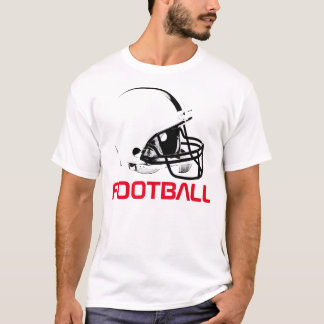 Pop Art Football Helmet Red White T-Shirt