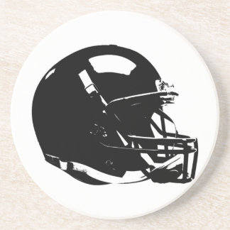Pop Art Football Helmet Sandstone Coaster