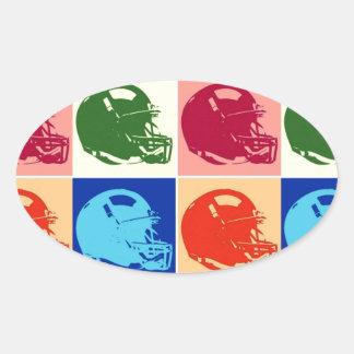 Pop Art Football Helmet Sticker