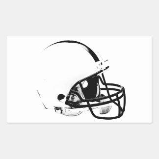Pop Art Football Helmet Rectangular Sticker