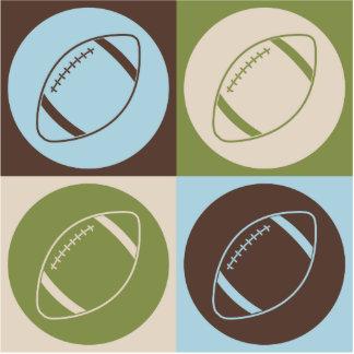 Pop Art Football Acrylic Cut Outs