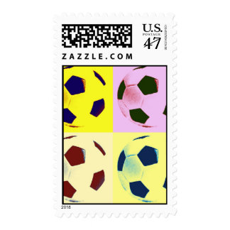 Pop Art Football - Soccer Postage