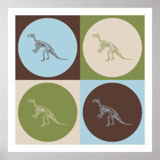 Pop Art Fossil Poster