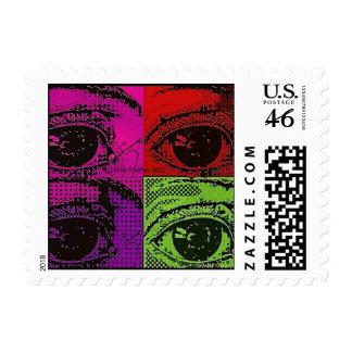 Pop Art Four Eyes Stamp by Katie Pfeiffer