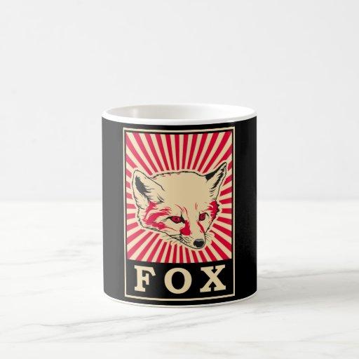 Pop Art Fox Coffee Mug