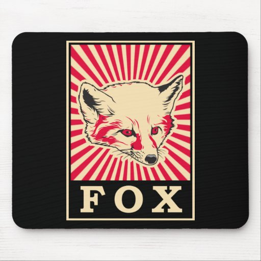 Pop Art Fox Mouse Pad