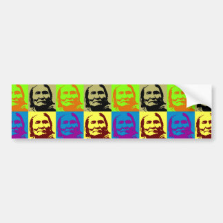 Pop Art Freedom Fighter Geronimo Bumper Sticker