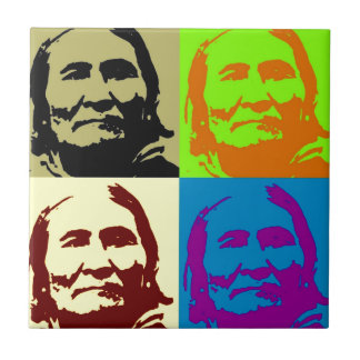 Pop Art Freedom Fighter Geronimo Ceramic Tile
