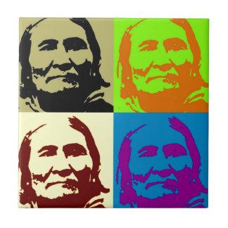 Pop Art Freedom Fighter Geronimo Ceramic Tile