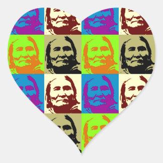 Pop Art Freedom Fighter Geronimo Heart Sticker