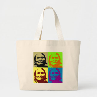 Pop Art Freedom Fighter Geronimo Jumbo Tote Bag