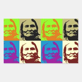 Pop Art Freedom Fighter Geronimo Rectangular Sticker