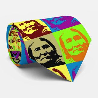 Pop Art Freedom Fighter Geronimo Tie